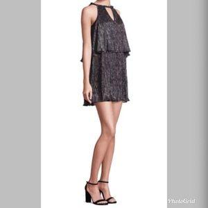 NWT Ella Moss Metallic Tiered Keyhole Dress M